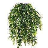MIHOUNION 2 Pcs Farn Künstlich Kunstpflanzen Hängend Hängepflanzen Künstliche Grünpflanze...